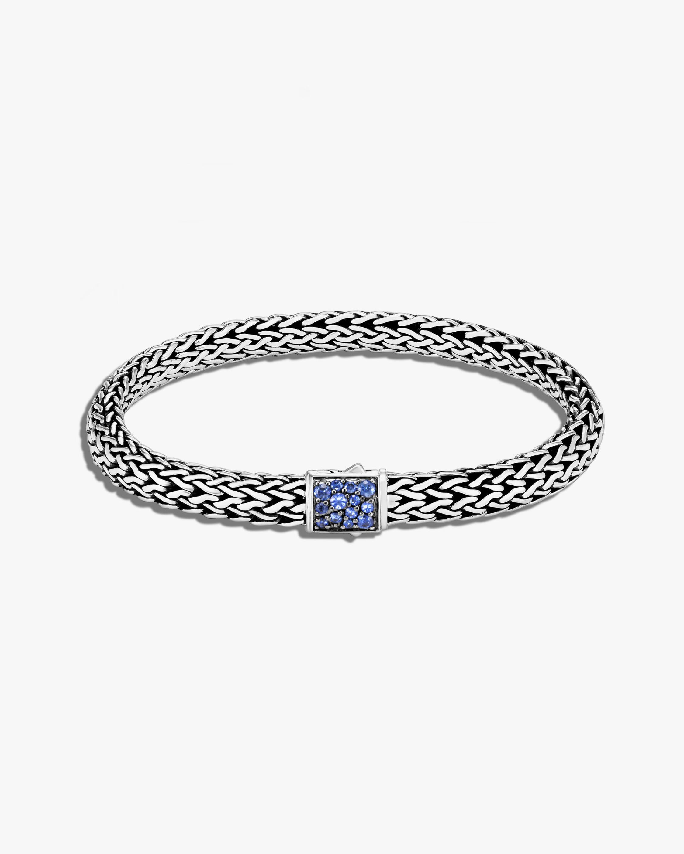 John Hardy Classic Chain Blue Sapphire Reversible Bracelet 0