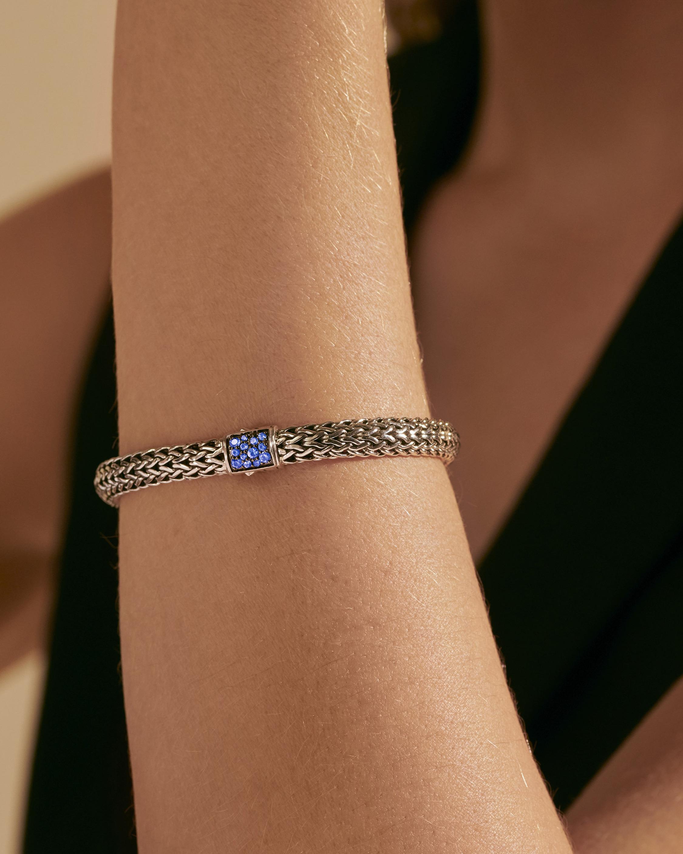 John Hardy Classic Chain Blue Sapphire Reversible Bracelet 1