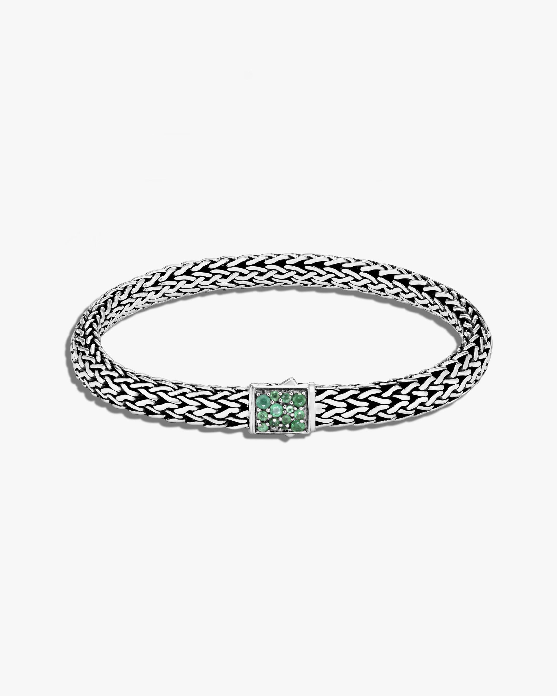 John Hardy Classic Chain Emerald Reversible Bracelet 0