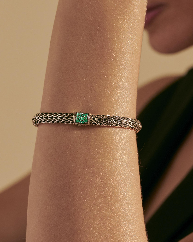 John Hardy Classic Chain Emerald Reversible Bracelet 1