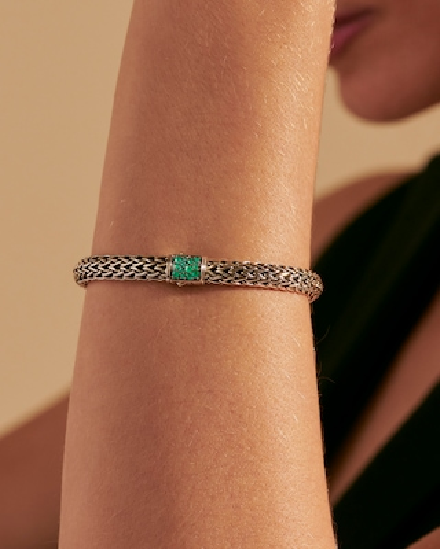 John Hardy Classic Chain Emerald Reversible Bracelet 2