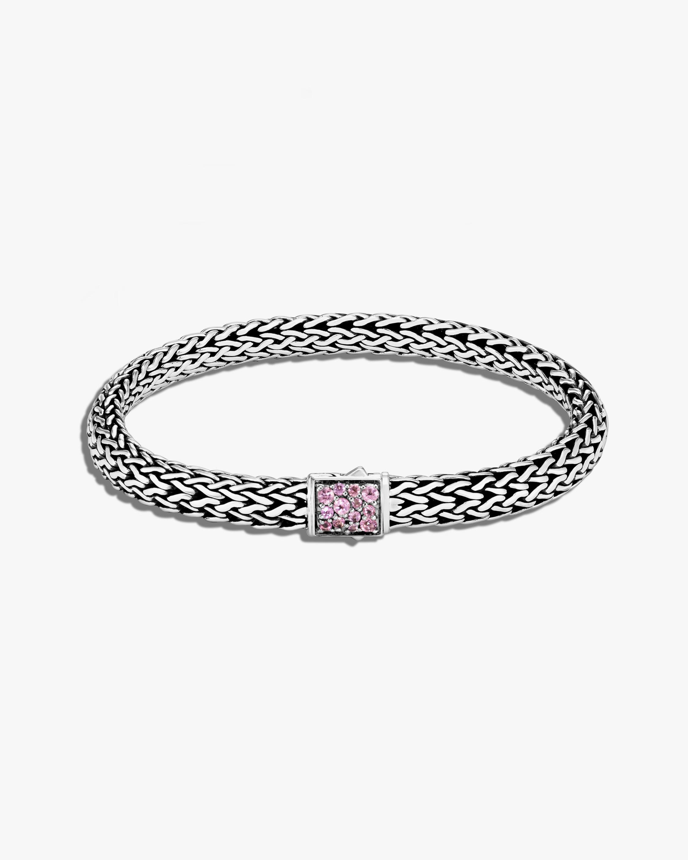 John Hardy Classic Chain Pink Tourmaline Reversible Bracelet 0
