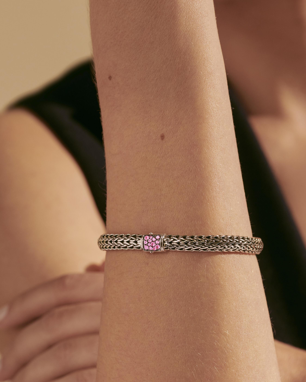John Hardy Classic Chain Pink Tourmaline Reversible Bracelet 2