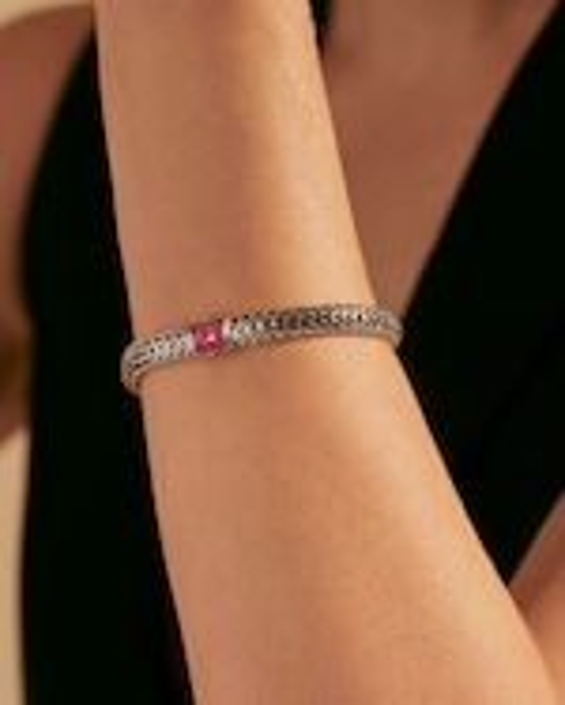 John Hardy Classic Chain Ruby Reversible Bracelet 1