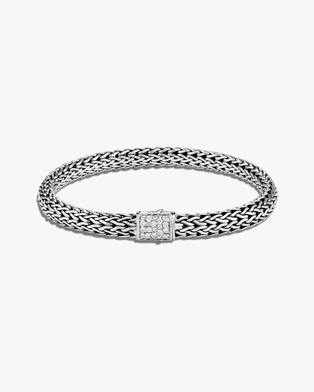 John Hardy Classic Chain Reversible Diamond Bracelet 0