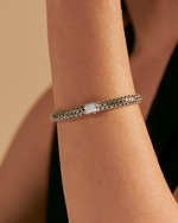 John Hardy Classic Chain Reversible Diamond Bracelet 1
