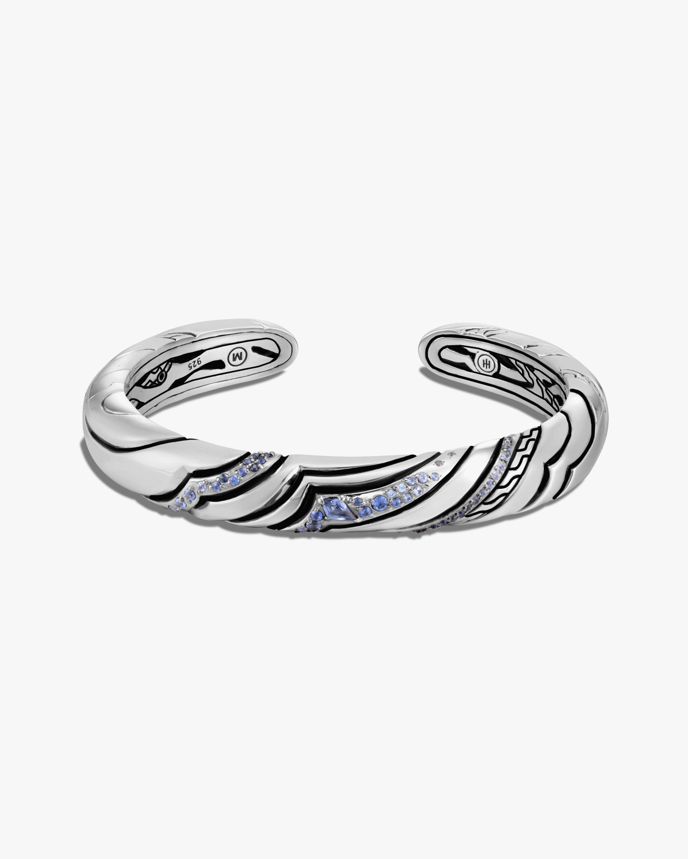 John Hardy Lahar Blue Sapphire Cuff 0