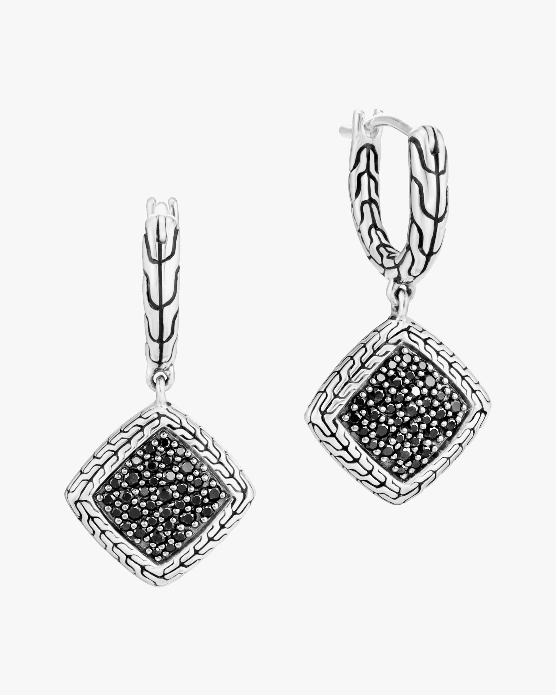 John Hardy Classic Chain Square Drop Earrings 0