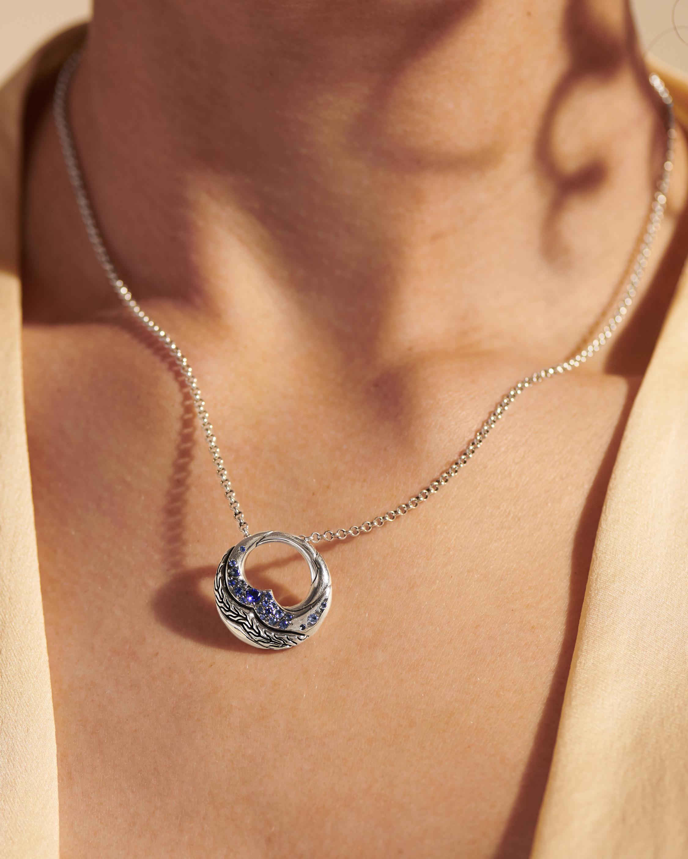 John Hardy Lahar Blue Sapphire Pendant Necklace 1