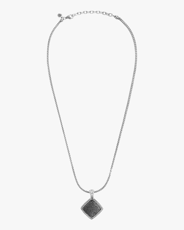 John Hardy Classic Chain Square Pendant Necklace 0