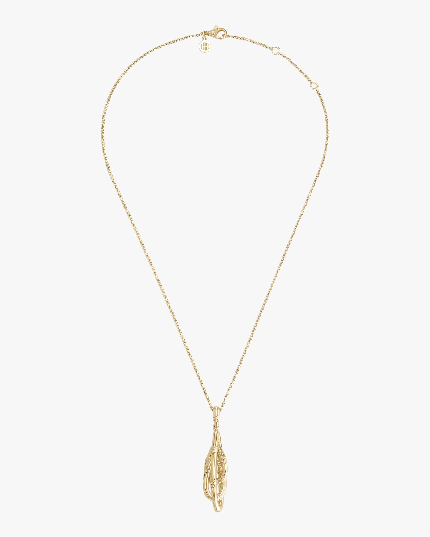 John Hardy Bamboo Pendant Necklace 0