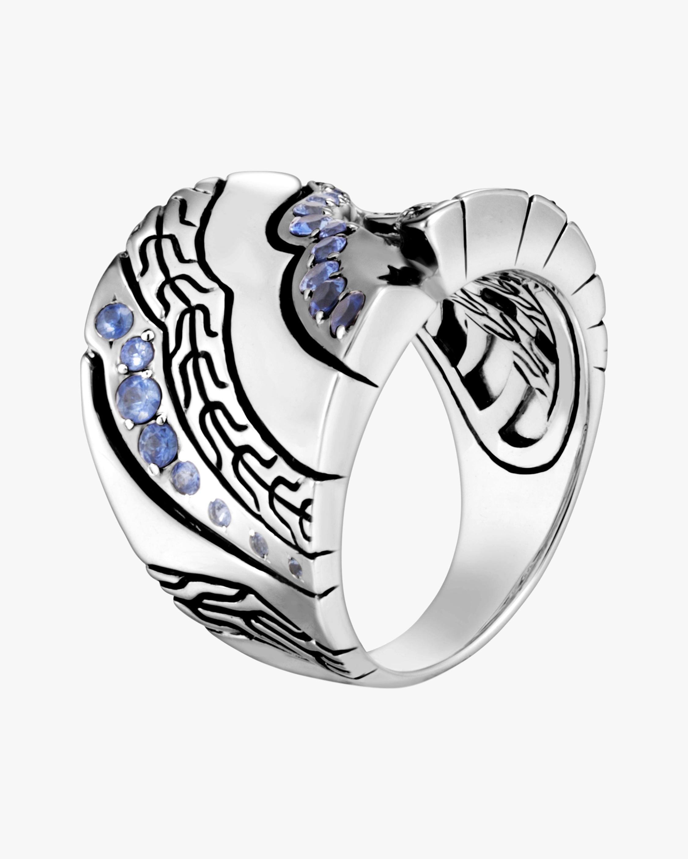 John Hardy Lahar Blue Sapphire Saddle Ring 0