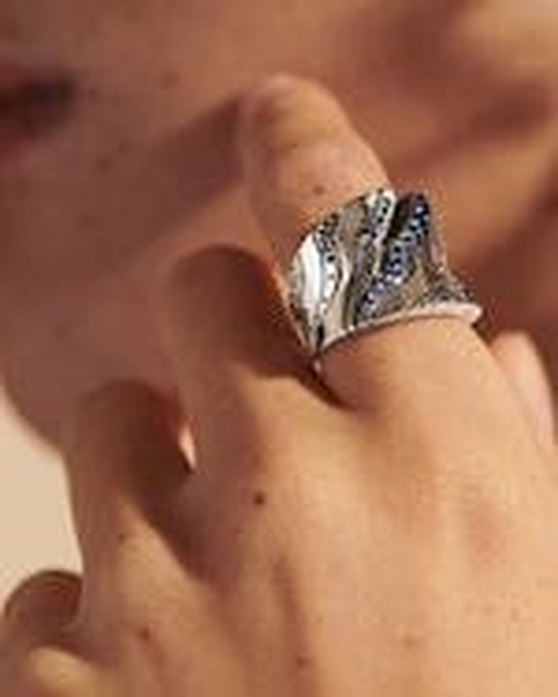 John Hardy Lahar Blue Sapphire Saddle Ring 1