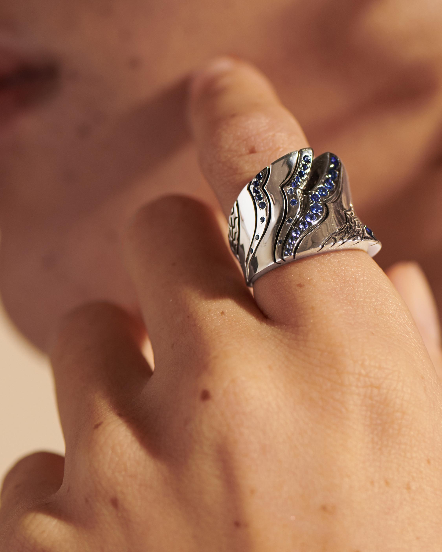 John Hardy Lahar Blue Sapphire Saddle Ring 2