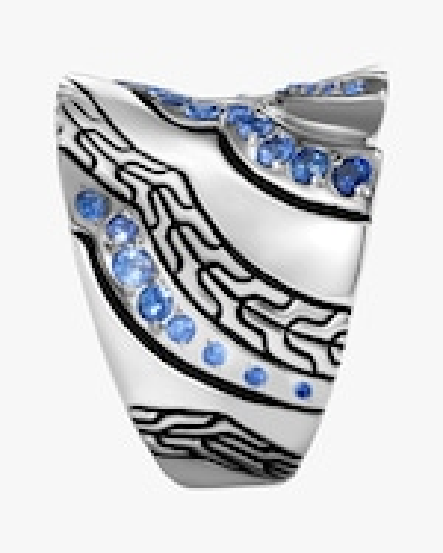 John Hardy Lahar Blue Sapphire Saddle Ring 3