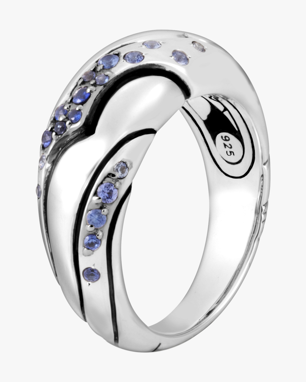 John Hardy Lahar Blue Sapphire Dome Ring 0