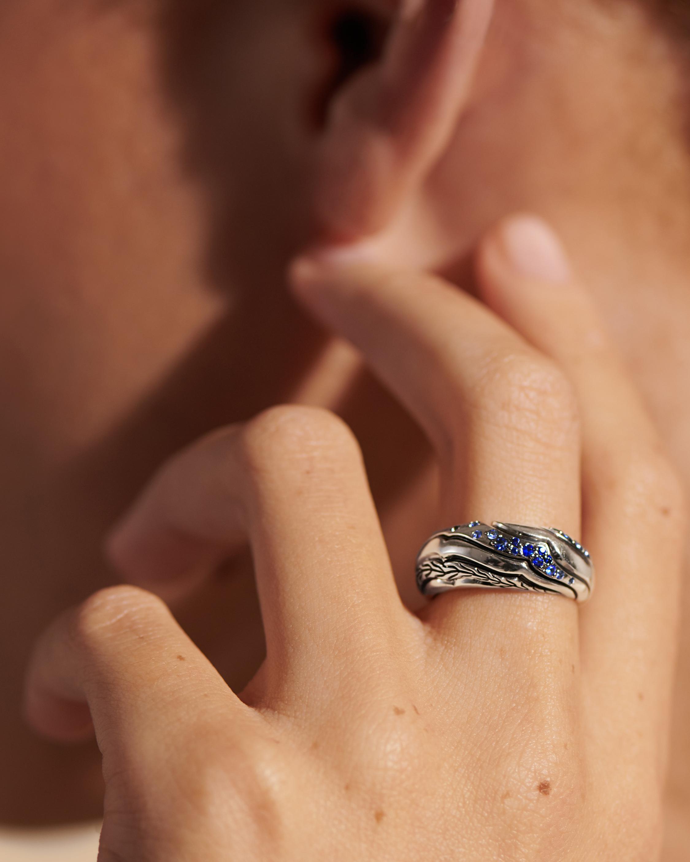 John Hardy Lahar Blue Sapphire Dome Ring 1
