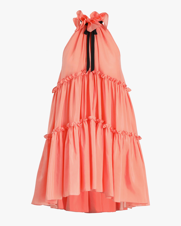 Prabal Gurung Ruffle-Tier Halter Mini Dress 1