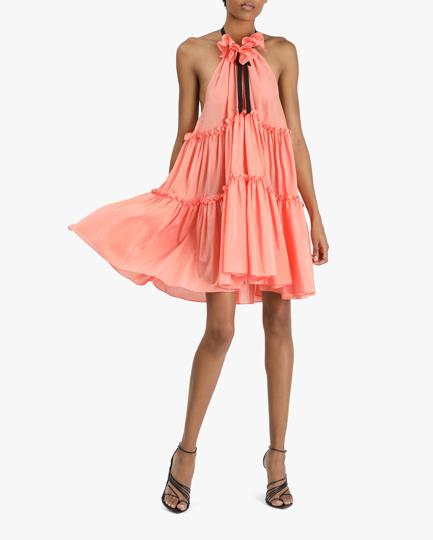 Prabal Gurung Ruffle-Tier Halter Mini Dress 2
