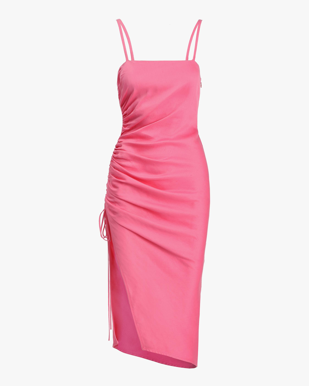Prabal Gurung Side-Ruche Midi Dress 0
