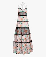 Prabal Gurung Tiered-Lace Gown 0