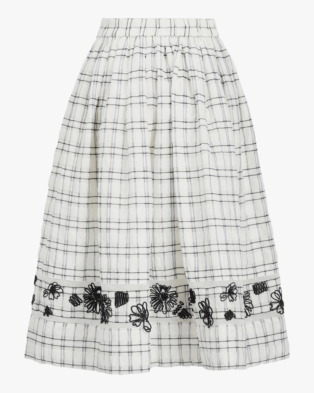 Prabal Gurung Embroidered A-Line Skirt 0
