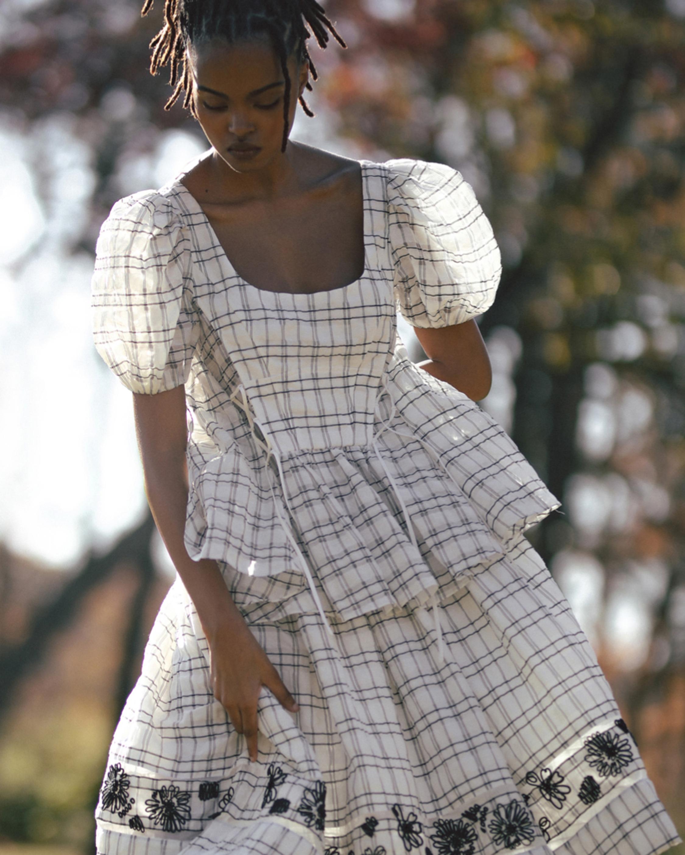 Prabal Gurung Embroidered A-Line Skirt 2