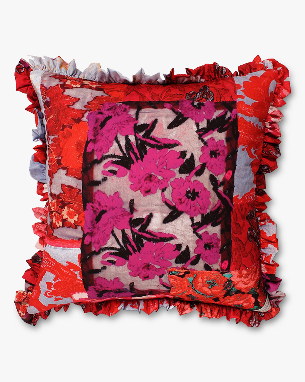 Preen by Thornton Bregazzi Home Satin & Velvet Cushion 0