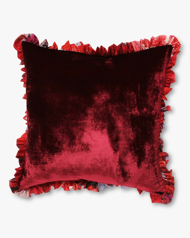 Preen by Thornton Bregazzi Home Satin & Velvet Cushion 1