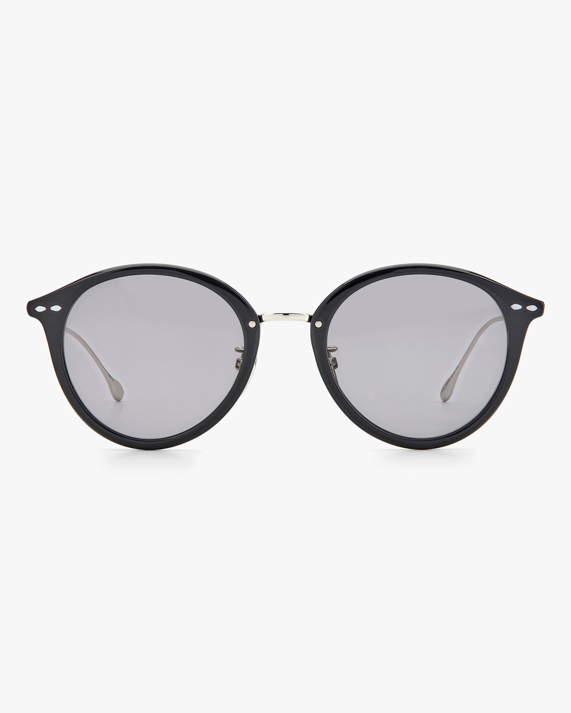 Isabel Marant Black Oval Sunglasses 0