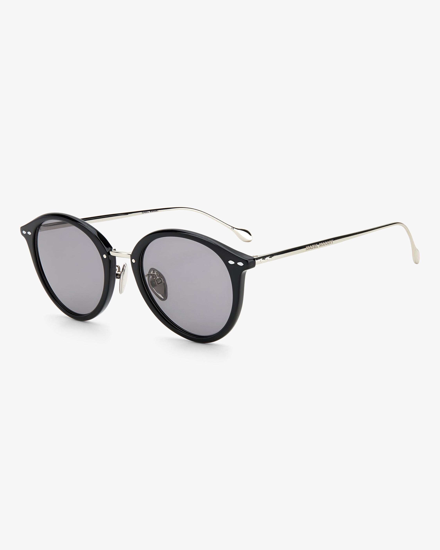 Isabel Marant Black Oval Sunglasses 1