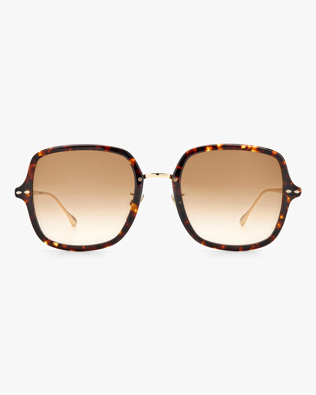 Isabel Marant Havana Square Sunglasses 0