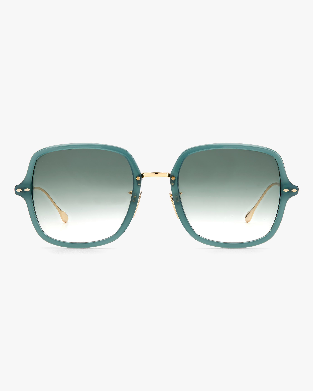 Isabel Marant Green Square Sunglasses 0