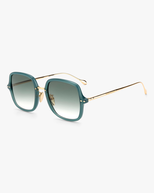 Isabel Marant Green Square Sunglasses 1