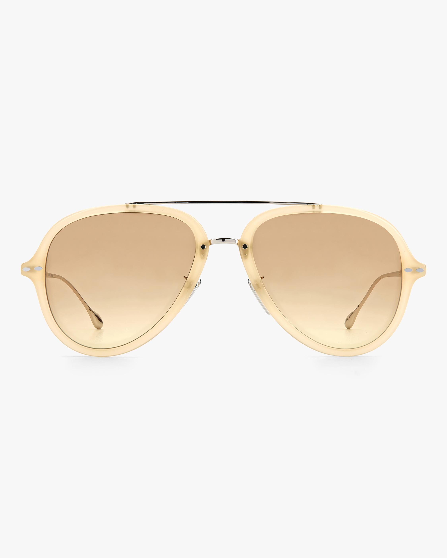 Isabel Marant Yellow Aviator Sunglasses 0