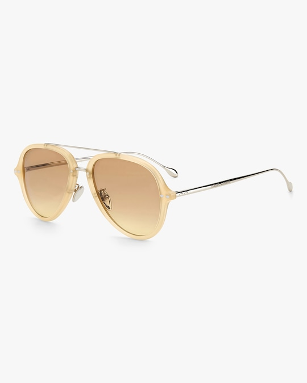 Isabel Marant Yellow Aviator Sunglasses 1