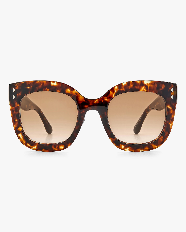 Isabel Marant Dark Havana Square Sunglasses 0