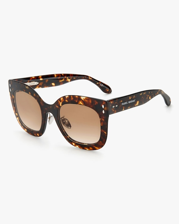 Isabel Marant Dark Havana Square Sunglasses 1