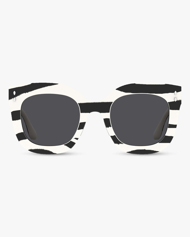 Isabel Marant Striped Square Sunglasses 0