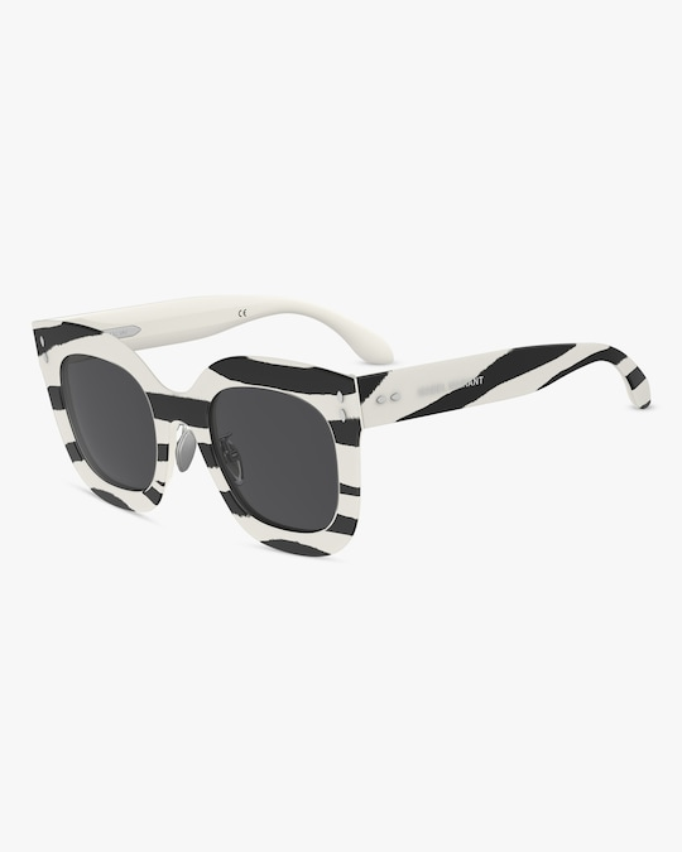Isabel Marant Striped Square Sunglasses 1