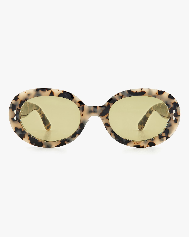 Isabel Marant White Havana Oval Sunglasses 1