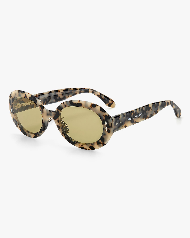 Isabel Marant White Havana Oval Sunglasses 2