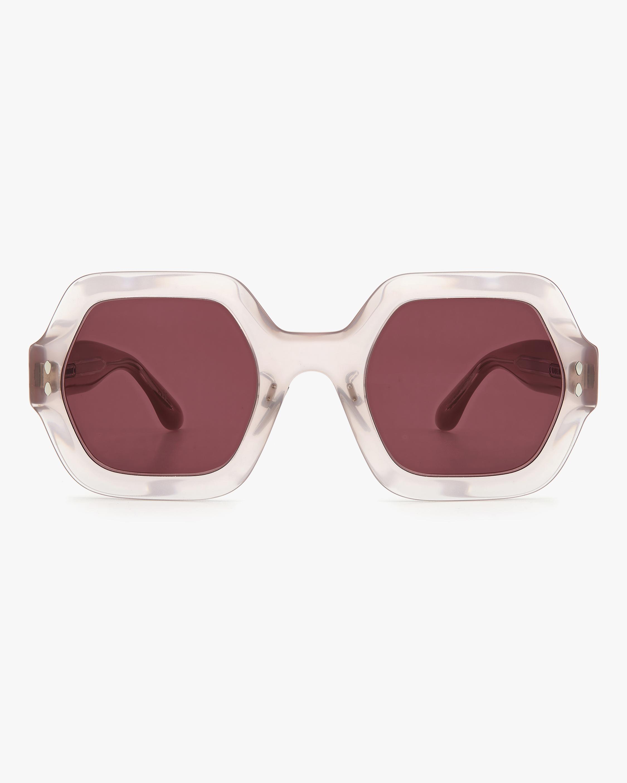 Isabel Marant Nude Hexagonal Sunglasses 0