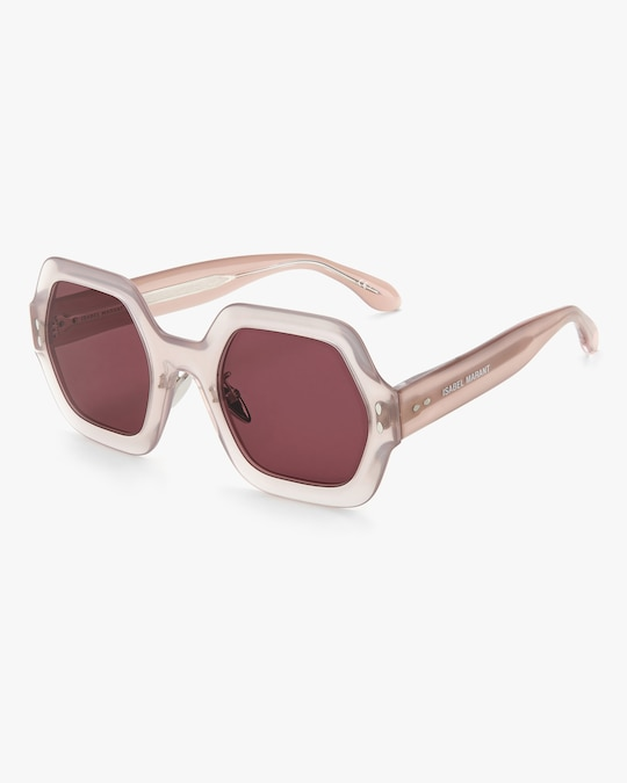 Isabel Marant Nude Hexagonal Sunglasses 1