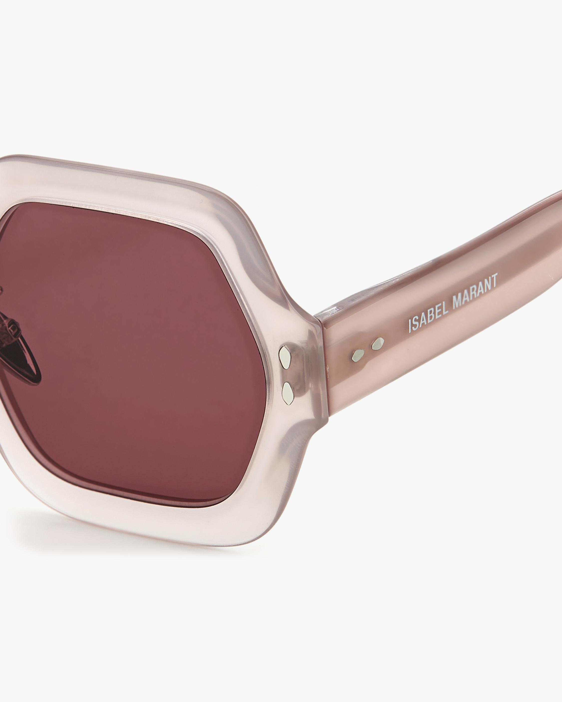 Isabel Marant Nude Hexagonal Sunglasses 3