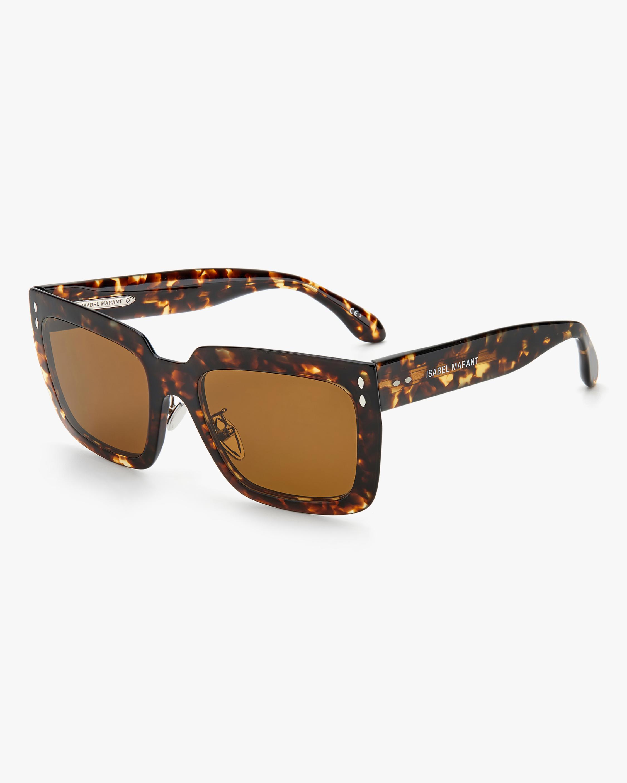 Isabel Marant Dark Havana Rectangle Sunglasses 1