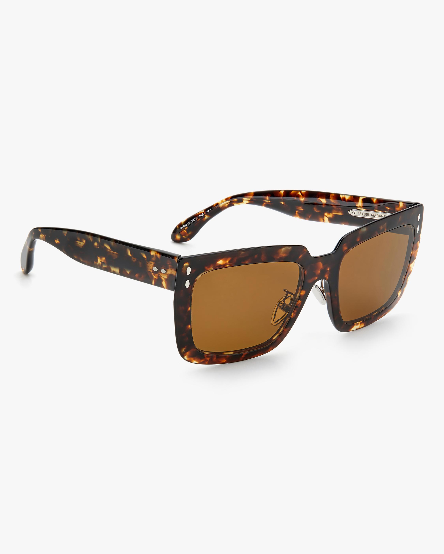 Isabel Marant Dark Havana Rectangle Sunglasses 2