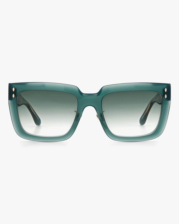Isabel Marant Green Rectangle Sunglasses 0