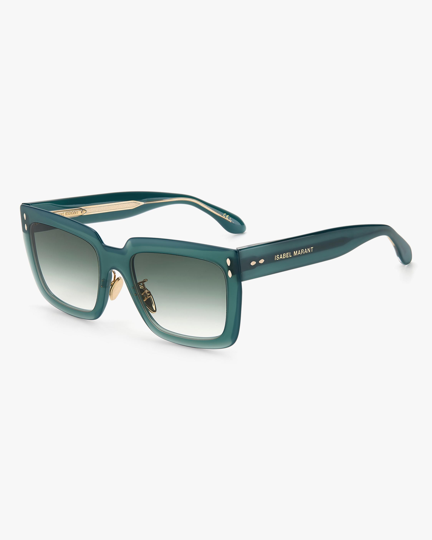 Isabel Marant Green Rectangle Sunglasses 1