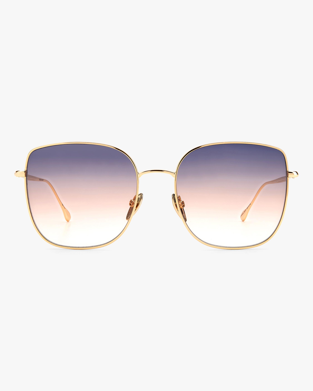 Isabel Marant Rose Gold Square Sunglasses 0